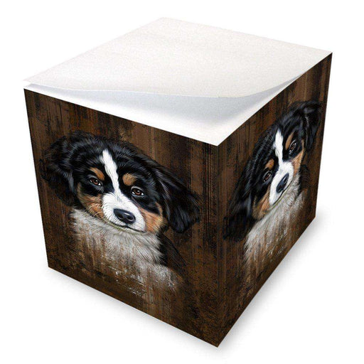 Rustic Bernese Mountain Puppy Note Cube NOC48202