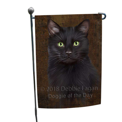 Rustic Black Cat Garden Flag GFLG54477