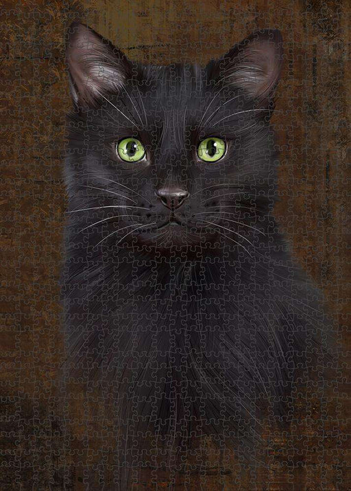 Rustic Black Cat Puzzle with Photo Tin PUZL84816