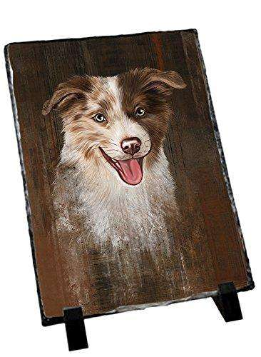 Rustic Border Collie Dog Photo Slate SLT48214
