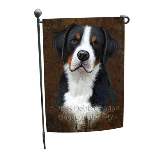 Rustic Greater Swiss Mountain Dog Garden Flag GFLG54507