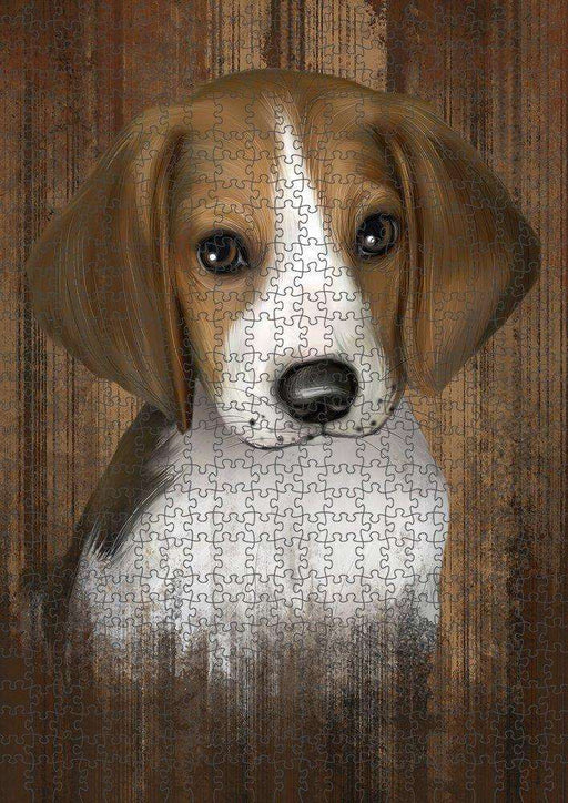 Rustic Treeing Walker Coonhound Dog Puzzle with Photo Tin PUZL52041