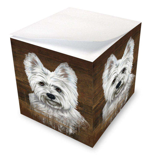 Rustic West Highland White Terrier Dog Note Cube NOC48270