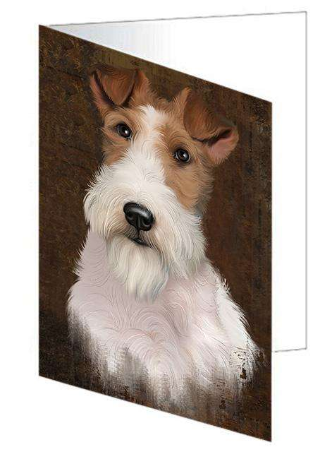 Rustic Wire Fox Terrier Dog Greeting Card GCD67541