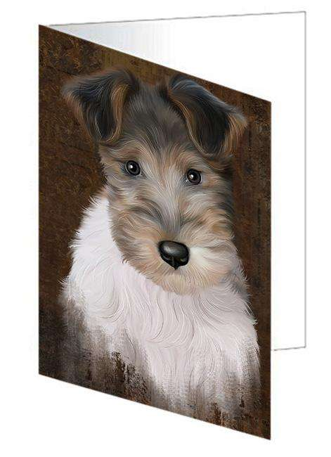 Rustic Wire Fox Terrier Dog Greeting Card GCD67547