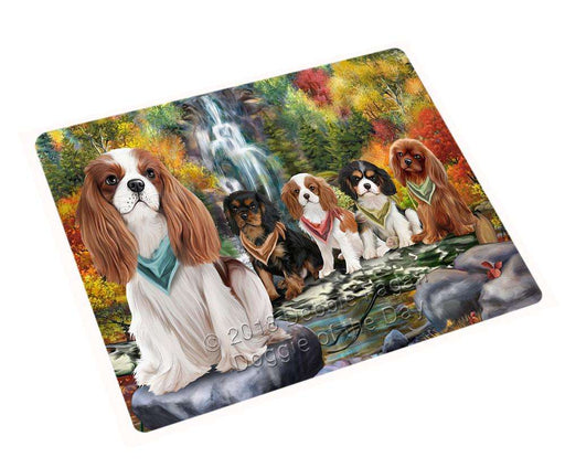"Scenic Waterfall Cavalier King Charles Spaniels Dog Magnet Mini (3.5"" x 2"") MAG53037"
