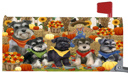 Magnetic Mailbox Cover Harvest Time Festival Day Schnauzers Dog MBC48069