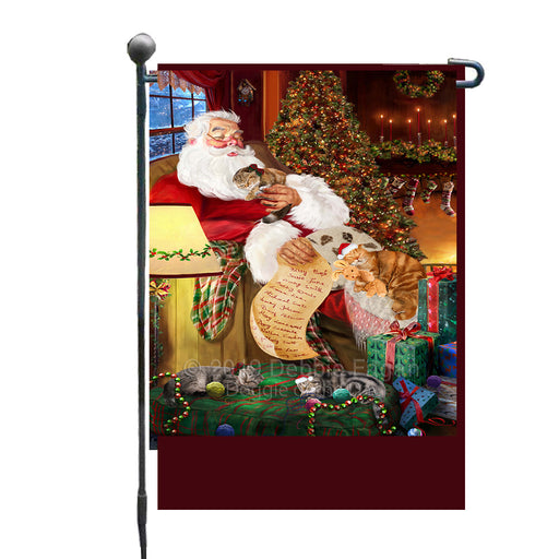 Personalized Scottish Fold Dogs and Puppies Sleeping with Santa Custom Garden Flags GFLG-DOTD-A62666