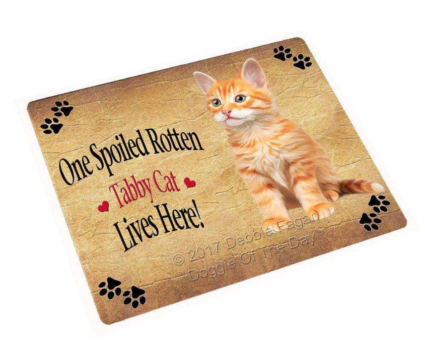 "Spoiled Rotten Tabby Cat Magnet Mini (3.5"" x 2"")"