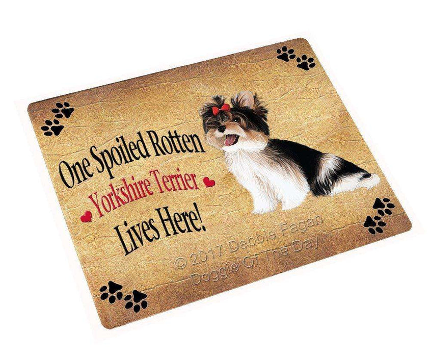 "Spoiled Rotten Yorkshire Terrier Dog Magnet Mini (3.5"" x 2"")"