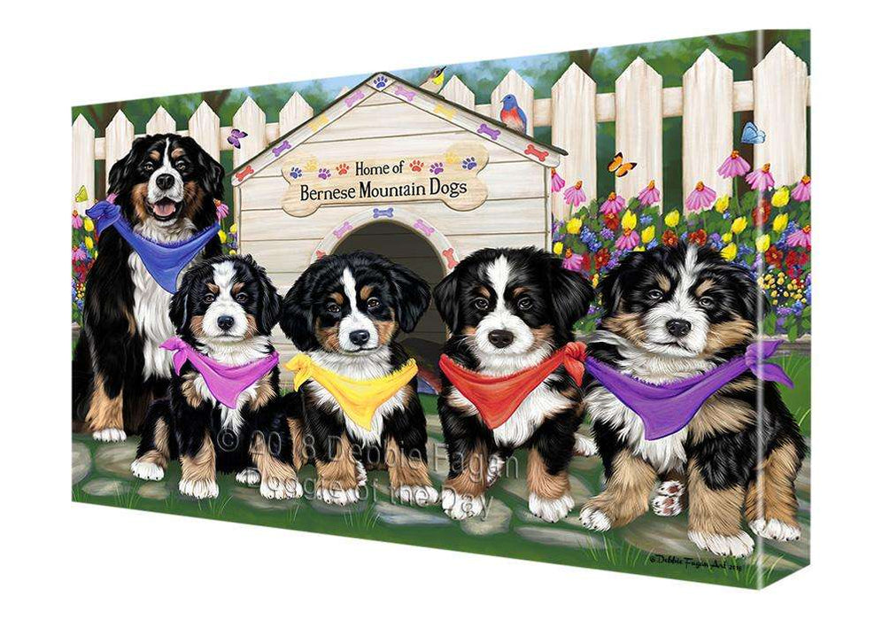 Spring Dog House Bernese Mountain Dogs Canvas Wall Art CVS63862
