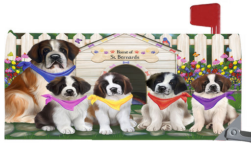 Spring Dog House Saint Bernard Dogs Magnetic Mailbox Cover MBC48680
