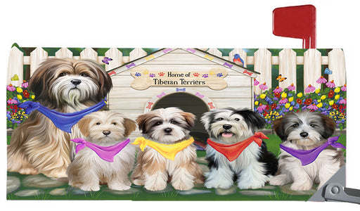 Spring Dog House Tibetan Terrier Dogs Magnetic Mailbox Cover MBC48681