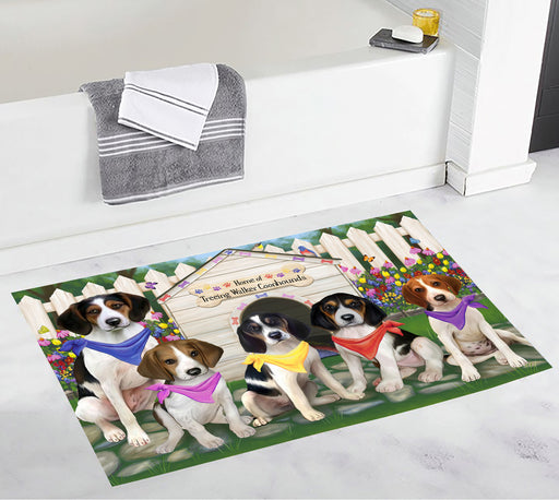 Spring Dog House Treeing Walker Coonhound Dogs Bath Mat