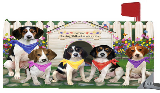 Spring Dog House Treeing Walker Coonhound Dogs Magnetic Mailbox Cover MBC48682