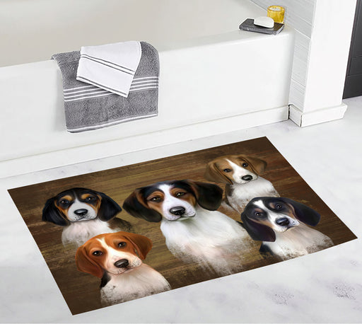 Rustic Treeing Walker Coonhound Dogs Bath Mat
