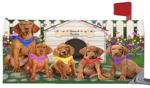 Spring Dog House Vizsla Dogs Magnetic Mailbox Cover MBC48684