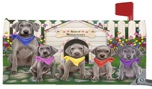 Spring Dog House Weimaraner Dogs Magnetic Mailbox Cover MBC48685