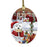 West Highland Terrier Dog Dear Santa Letter Christmas Holiday Mailbox Oval Glass Christmas Ornament OGOR49093