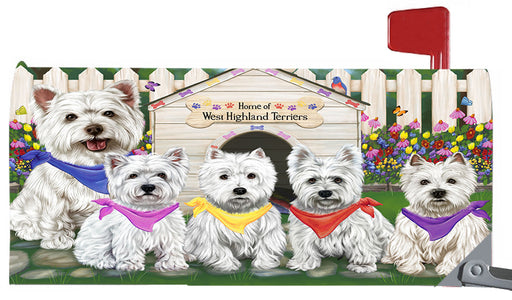 Spring Dog House West Highland Terrier Dogs Magnetic Mailbox Cover MBC48686