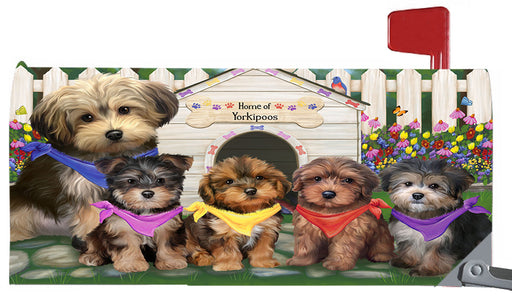 Spring Dog House Yorkipoo Dogs Magnetic Mailbox Cover MBC48689