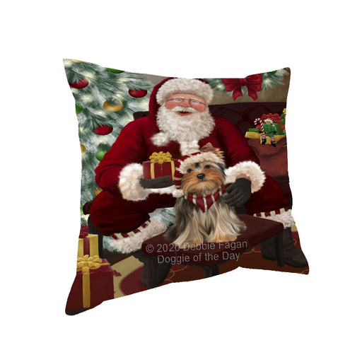 Santa's Christmas Surprise Yorkshire Terrier Dog