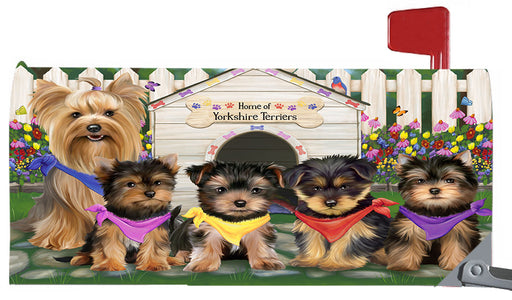 Spring Dog House Yorkshire Terrier Dogs Magnetic Mailbox Cover MBC48690
