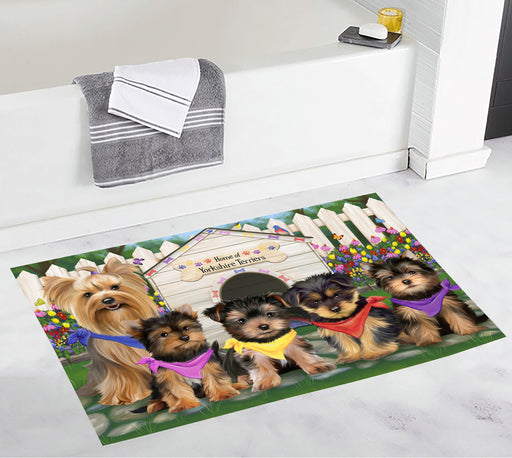 Spring Dog House Yorkshire Terrier Dogs Bath Mat