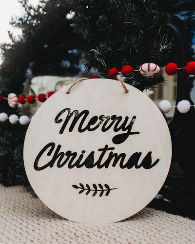Merry Christmas Round Plaque