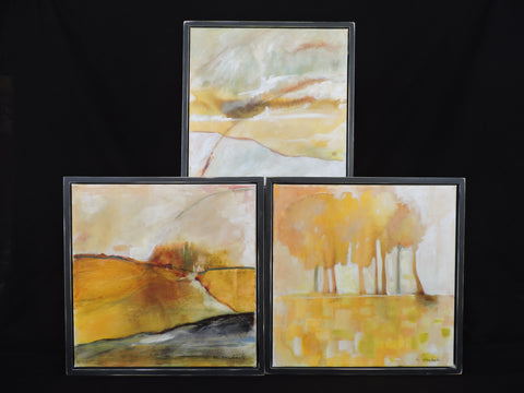 Merrill Heubach Yellow Landscape Paintings