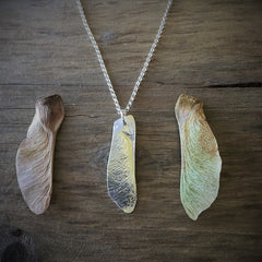 Maple Seed Necklace by Rachael Jessup