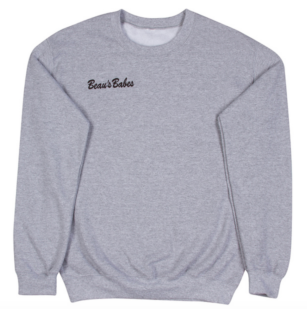 Gray Adult Crewneck Sweatshirt