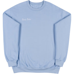 Light Blue Adult Crewneck Sweatshirt