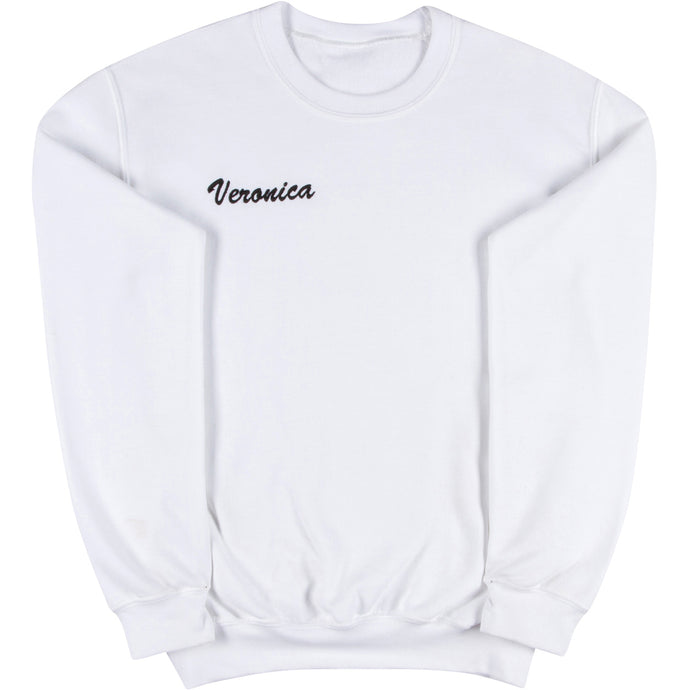 White Adult Crewneck Sweatshirt