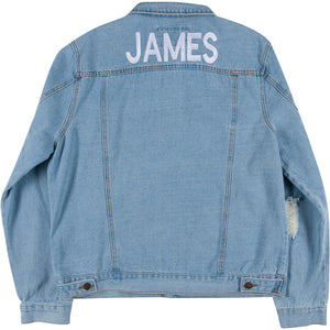 Men's Distressed Denim Jacket