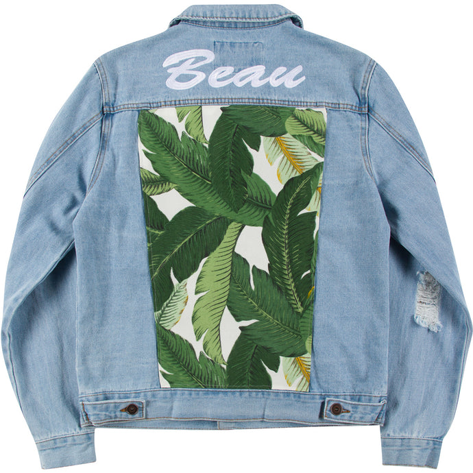 Banana Leaf Adult Denim Jacket
