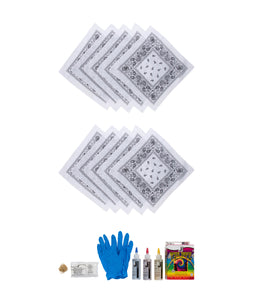 Bandana DIY Tie Dye Kit (Set of 10)