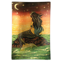 Mermaid Queen Gold Leaf Glass Tray