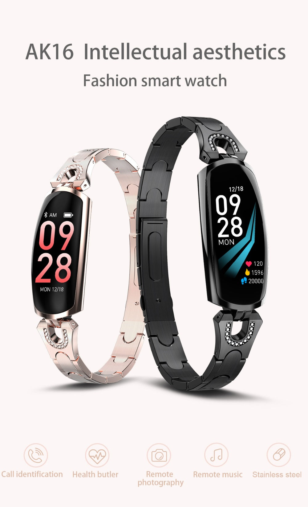 2019 Smart Wristbands Bracelet fitness - Heart Rate, Blood Pressure