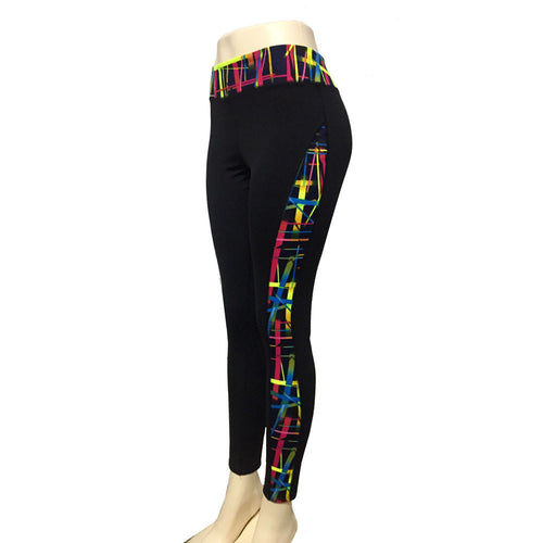 High Waist Fitness Yoga - Sport Pants  -  Printed