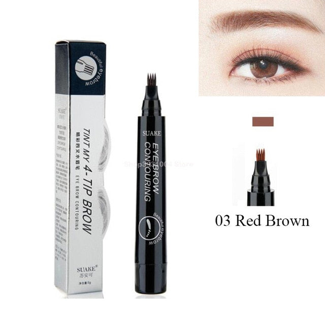 Microblading Eyebrow Pen Waterproof - Eyebrow Tattoo  Long Lasting Professional