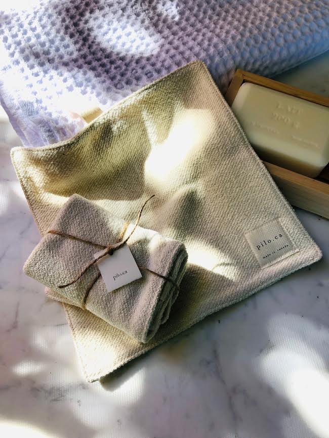 Textured Hemp Cloths - Set of 2 www.soapandwatereveryday.com