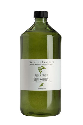 Belle de Provence Olive Verbena Liquid Hand Soap 1 Litre Refill (New Packaging) Belle de Provence