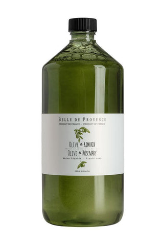 Belle de Provence Olive Rosemary Liquid Hand Soap 1 Litre Refill (New Packaging) Belle de Provence