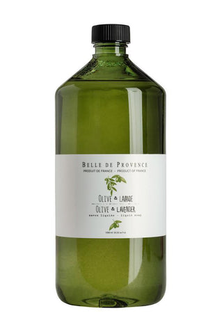 Belle de Provence Olive Lavender Liquid Hand Soap 1 Litre Refill (New packaging) Belle de Provence