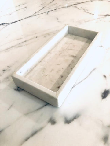 Solid Marble Tray www.soapandwatereveryday.com