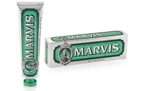 Marvis - Classic Strong Mint 75 ml www.soapandwatereveryday.com