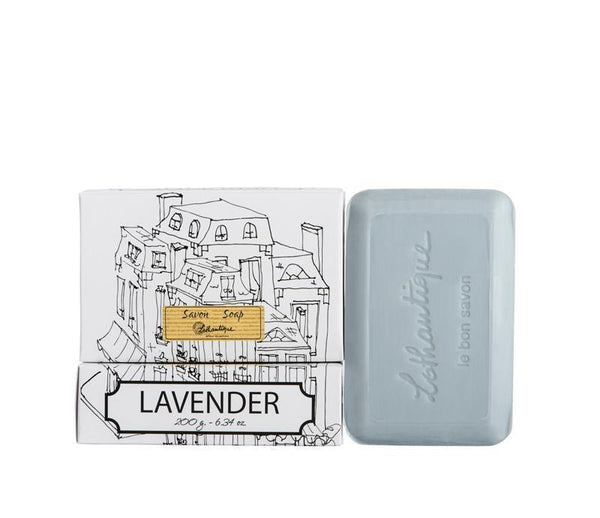 Lothantique Bar Soap - Lavender 200 gm www.soapandwatereveryday.com