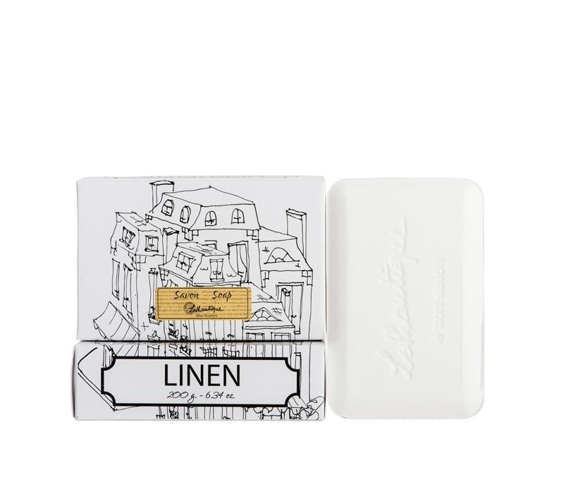 Lothantique Bar Soap - Linen 200 gm www.soapandwatereveryday.com