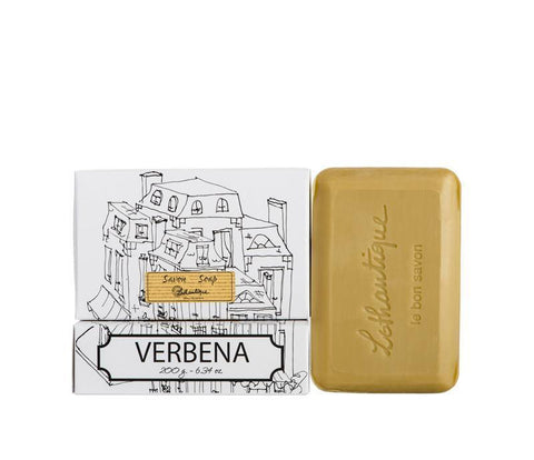 Lothantique Bar Soap - Verbena 200 gm www.soapandwatereveryday.com
